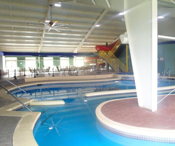 Indoor Pool And Hot Tub With A Slide On Indoor Pool u0026 Water Slide Lakeside Resort And Conference Center
